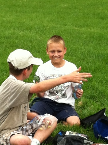We laugh at camp!